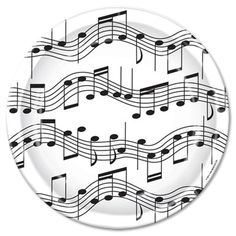 One 8 count package of 9 inch Musical Notes Lunch Plates. $2.25