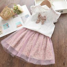 Beautiful Girls Top and Skirt Set $29.99   #DiaperbagBabyAlex #lovethewayyoupay #babyclothesBabyAlex #ToddlerclothesBabyAlex #babyalex #afterpayit #alexcollections