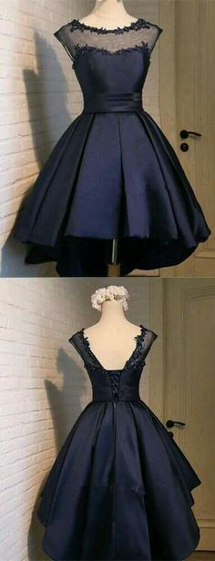 Elegant Prom Dresses, Short Ball Gown Navy Blue Homecoming Dress satin homecoming dress sweet 16 birthday party gowns Shop for La Femme prom dresses. Elegant long designer gowns, sexy cocktail dresses, short semi-formal dresses, and party dresses. Classy Homecoming Dress, Navy Blue Homecoming Dress, Junior Homecoming Dresses, Cute Prom Dresses, Elegant Prom Dresses, Dresses Short, Classy Dress, Trendy Dresses, Beautiful Dresses