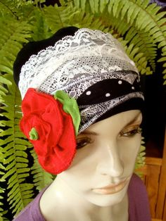Womens Chemo Hat Chemo Headwear Flappper by GypsyLoveHeadbands