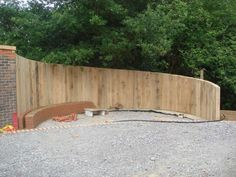 Privacy fence using railway sleepers