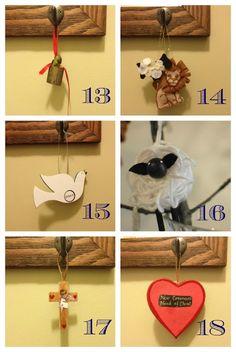 Great pics of Jesse Tree ornaments