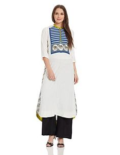 Material: Rayon with three quarter sleeve Straight fit Calf length #WforWomanStraightKurta