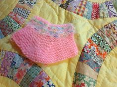 First bootie knitted.