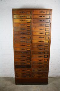 beautiful antique filing drawers