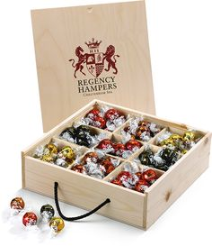 Lindt Lindor Truffles in Wooden Box #Gift