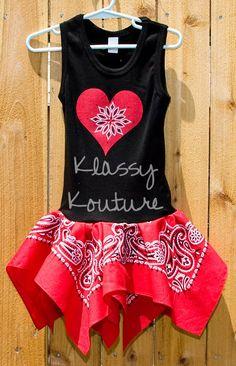 BANDANA DRESS.  cute toddler dress with a tank top and bandana. just needs a pair of cowboy boots!