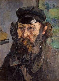 Self-Portrait in a Cap by Paul Cezanne Hermitage, Russia