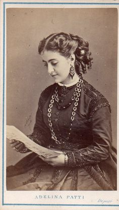 Adelina Patti, Italian opera singer who made her home in Craig y nos castle, near Abercrave, South Wales.