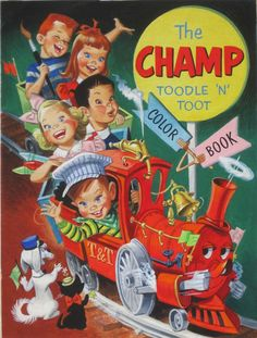 Pete Hawley - The Champ Toodle 'N' Toot, 1951 Comic Art