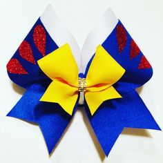 Fairest of All- Snow White Bow Softball Bows, Cheerleading Bows, Girl Hair Bows, Girls Bows, Thanksgiving Hair Bows, Cute Cheer Bows, Disney Hair Bows, Diy Bow, Boutique Bows