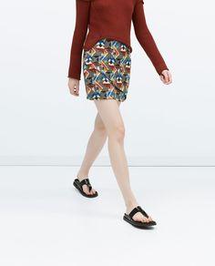 Image 3 of JACQUARD MINI SKIRT from Zara
