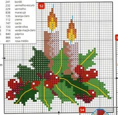 point de croix Noël *m@* Cross stitch natal:
