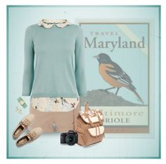"""""""Travel Maryland"""" by kbarkstyle ❤ liked on Polyvore featuring NLST, Oasis, Graham & Brown, Keds, Red Camel, Eos, Michele and Bonheur"""