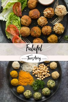 Falafel Recipe - Learn to make chickpea falafel the traditional way with multiple variations in this step-by-step tutorial. | ToriAvey.com #MiddleEasternrecipe #appetizer #vegan #sidedish #chickpeas #TorisKitchen via @toriavey