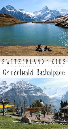Hike with kids to alpine lake with spectacular views then reward kids with a playground with a view - Jungfrau Region: Grindelwald First and Bachalpsee, Switzerland Switzerland Summer, Switzerland Travel Guide, Switzerland Cities, Switzerland Vacation, Visit Switzerland, Hiking With Kids, Travel With Kids, Family Travel, Cool Places To Visit