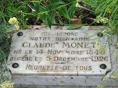 All about the grave of impressionist painter Claude Monet, Giverny, France, by Jane Fisher Cemetery Monuments, Cemetery Headstones, Old Cemeteries, Cemetery Art, Graveyards, Claude Monet, 35e Anniversaire, Gardens Of Stone, Famous Tombstones