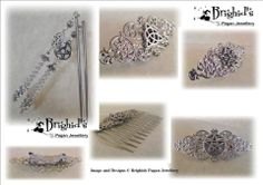 A selection of Silver Pagan Hair Accessories Hair Sticks, Hair Slides and Combs  Join us on facebook http://www.brighidspaganjewellery.co.uk/