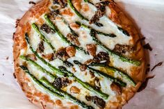 asparagus and mushroom pizza recipe