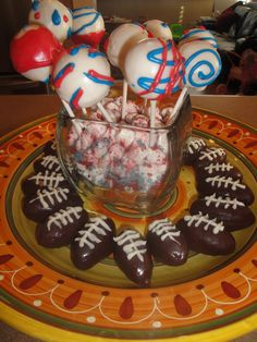 Cake pops for the Superbowl this year.  Candy melts pretty much made this whole thing possible.