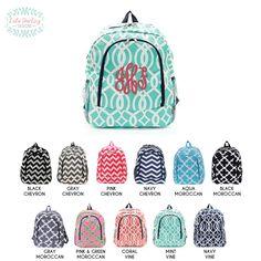 efff01c381 Monogram Backpack  Diaper Bag  Sports Bag  Bookbag   Book bag   Back to  school   School Monogram