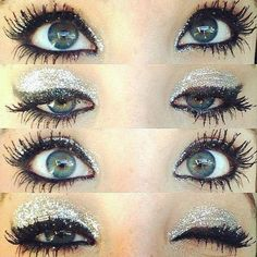 Sparkly eye makeup ❤ liked on Polyvore featuring makeup, eyes, beauty, eye makeup e pictures