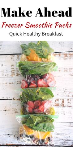make ahead freezer smoothie packs for an easy healthy breakfastYou can find Smoothie recipes healthy and more on our website.make ahead freezer smoothie pack. Healthy Juices, Healthy Drinks, Healthy Snacks, Healthy Recipes, Healthy Breakfasts, Milk Recipes, Protein Snacks, High Protein, Make Ahead Smoothies