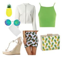 """""""Piña"""" by glamjournal ❤ liked on Polyvore featuring Acne Studios, Topshop, KORS Michael Kors, Monsoon, Quay and Skinnydip"""