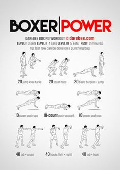 Boxer Power workout is part of the themed week by Darebee. Boxing Training Workout, Boxer Workout, Boxer Training, Mma Workout, Kickboxing Workout, Mma Training, Boxing Workout With Bag, Hand Workout, Speed Workout