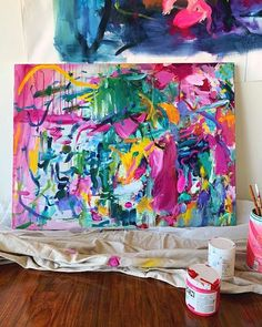 How to Make Your Acrylics Look Like Oils — Amira Rahim Colorful Abstract Art, Abstract Canvas Art, Creative Art, Creative Ideas, Acrylic Painting Inspiration, Art Camp, Creepy Art, Studio Art, Acrylic Colors