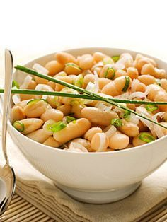 Sauteed Cannellini Beans - great way to eat high protein/fiber and low fat!