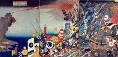 朝鮮征伐 石火矢の図 Korea conquest.