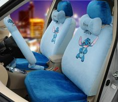 Buy Wholesale Unique Cartoon Universal Stitch Disney Plush Velvet Auto Car Seat Cover Sets - Blue from Chinese Wholesaler Disney Car Accessories, Disney Bedding, Disney Nursery, Disney Stained Glass, Magic Band Decals, Lilo And Stitch Ohana, Disney Magic Bands, Cute Stitch, Disney Plush