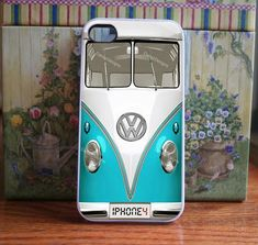iPhone case VW Bus in Mint, teal, blue iphone 4 and iphone 4s cover volkswagen