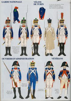 Guardia nazionale, Velites di Torino, amministratori e veterani della guardia imperiale francese