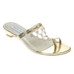 Touch Ups Women's Marcella Gold Mirror 12 M Touch Ups… Sparkly SandalsLow  ...
