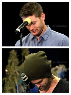 Jensen and Jared, microphone face plant at VanCon2014 :)