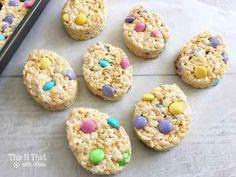 Easter Egg Rice Krispie Treats! | ThisNThatwithOlivia.com