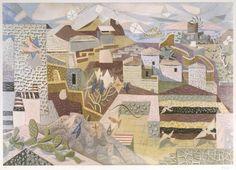 Hydra with Kites, 1980 by Nikos Hadjikyriakos Ghikas Classical Period, Classical Art, Painter Artist, Artist Art, Greek Paintings, Hellenistic Period, 10 Picture, Greek Art, Conceptual Art
