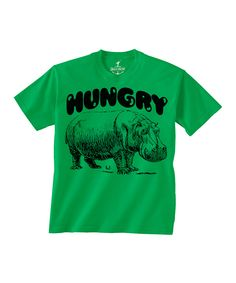 Love this Kelly Green 'Hungry' Hippo Tee - Toddler & Kids by Skip N' Whistle on #zulily! #zulilyfinds