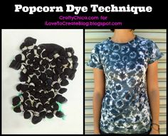Popcorn Tie-Dye Technique!