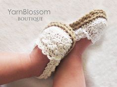 CROCHET PATTERN Baby Girl Espadrille Shoes (4 sizes included from 0-12 months) Instant Download for Kourtney