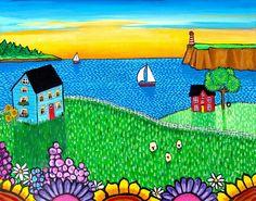 Nova Scotia Landscape Painting, Shelagh Duffett FREE SHIPPING. $340.00, via Etsy.