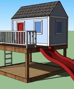 I want to make this! DIY Furniture Plan from Ana-White.com The gable ends wall for the playhouse. Features one window and full trim work. Uses just one sheet of plywood. You'll be surprised at how easy this playhouse is to build!