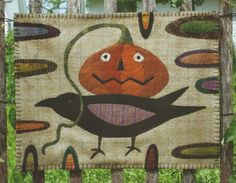 Primitive Folk Art Wool Applique Pattern PRIZE by PrimFolkArtShop