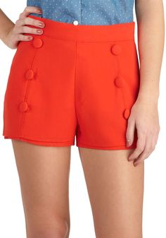 Ready or Nautical Shorts, Red high-waisted shorts; Pretty Outfits, Cool Outfits, Nautical Shorts, Fashion Project, Nautical Fashion, Vintage Shorts, High Waisted Shorts, Fashion Boutique, Passion For Fashion