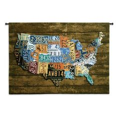 Fine Art Tapestries USA Tags Wall Tapestry, Black