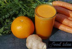 De week gezond beginnen? Maak dan sinaasappel wortel sap met een vleugje gember. Dit is o.a. goed voor de spijsvertering.