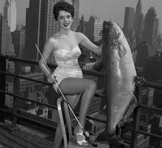 National Catfish Queen – 1954  … I bet she noodle that from the East River.