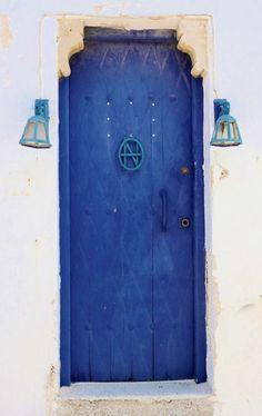 ○ Blue door in Kyrenia, Cyprus
